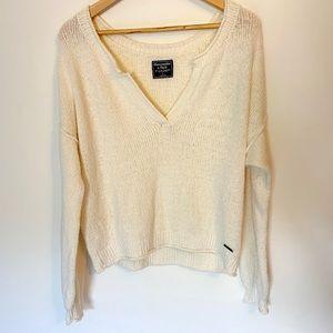 A&F Cozy V Neck Sweater